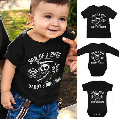 £7.03 • Buy Boys Son Of A BIKER T-Shirt Or Baby Grow - Motorbike Dad Gift Motorcycle Daddy