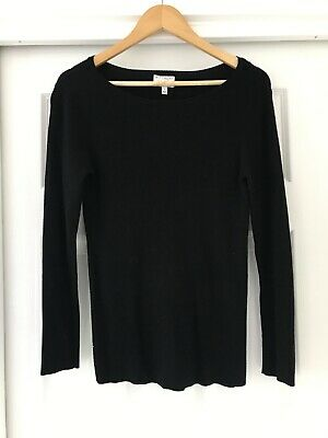 AU20 • Buy WITCHERY Black Ribbed Knit Top, Size Small
