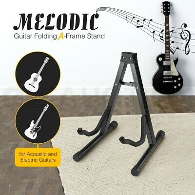 AU19.95 • Buy Melodic Folding Guitar Stand Electric Acoustic Bass Floor Rack Holder A Frame