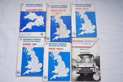 1975 - 1980 National Express Coach Bus Timetable X6 • 49.99£