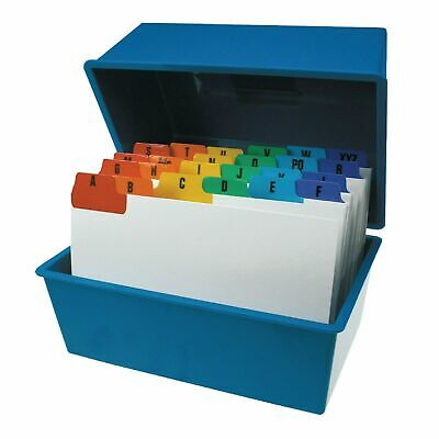 £12.99 • Buy Office Index Record Card Box Filing & Coloured Guide Record Cards - BLUE 8  X 5