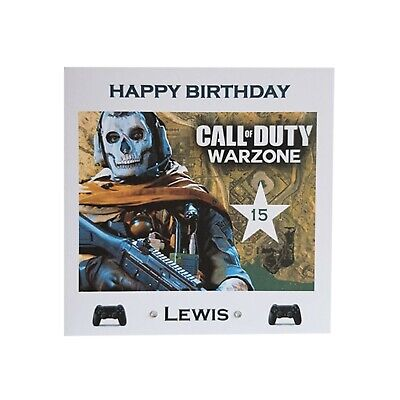 £3.50 • Buy Personalised Call Of Duty WARZONE BIRTHDAY CARD Gaming COD Boys Son PS4 XBox