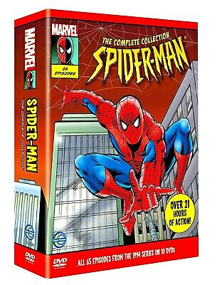 Spider-Man The Complete Collection, 90s Animated Cartoon Series Rare Now. • 230£
