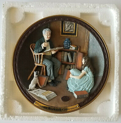 $ CDN25 • Buy NORMAN ROCKWELL Plate   The Lighthouse Keepers Daughter