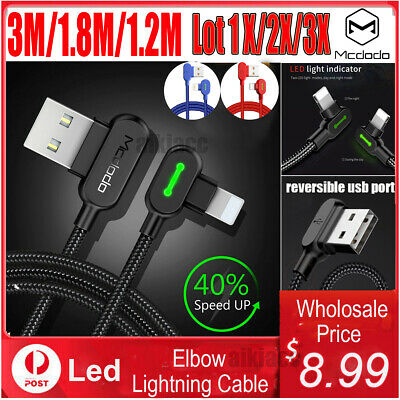 AU10.99 • Buy Mcdodo 3/1.8/1.2M Charging Lightning Charger Cable Reversible USB F IPhone 11 87