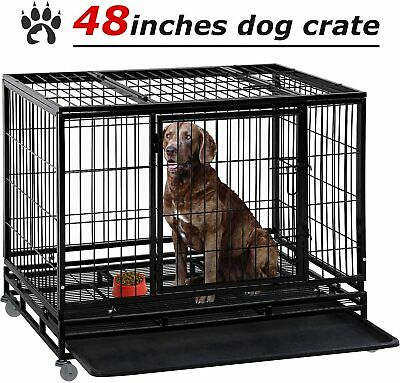 $139.99 • Buy Large Dog Crate Dog Cage Dog Kennel Heavy Duty Pet Playpen For Training Outdoor
