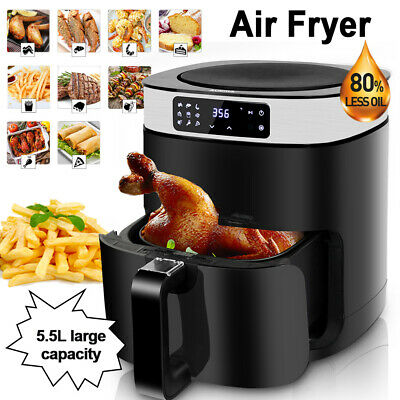 View Details Air Fryer 5.5L Oil Free Low Fat Healthy Cooker Food Chips Frying Kitchen 1500W • 59.99£