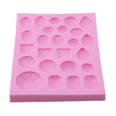 Jewelled Diamond Shape Gems Silicone Mould Vintage Topper Cake  Y2 • 4.34£