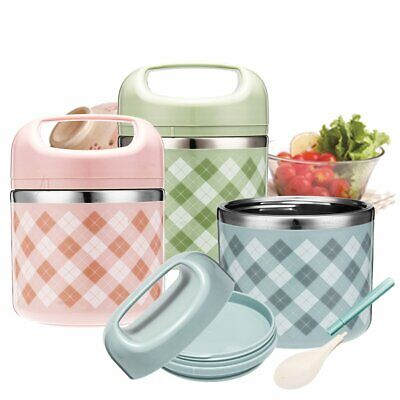 AU24.99 • Buy Vacuum Portable Stainless Steel Lunch Box Picnic Thermos Food Storage Container