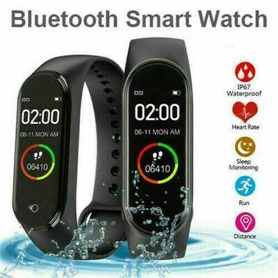$ CDN11.06 • Buy M4 Blood Pressure Monitor Smart Watch Band Heart Rate Tracker Fitness Wristband