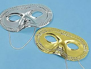 SALE -  24 Gold & Silver Carnival Masks For Crafts & Parties | Masks To Decorate • 8.78£