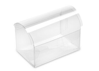 £4.23 • Buy 10 Acetate Clear Chest Boxes For Party Favours   Lace Paper Doily Party Wedding