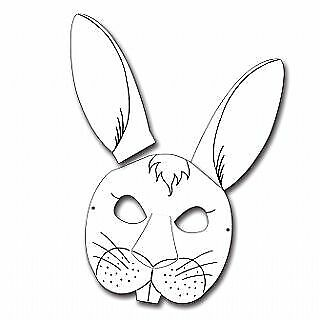 6 Rabbit Colour In Card Masks For Kids To Decorate For Crafts • 5.49£