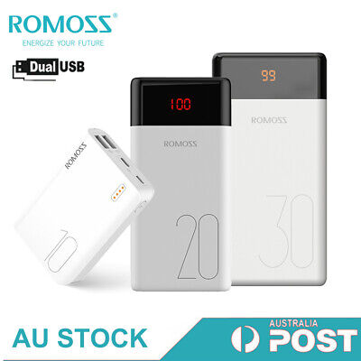 AU36.99 • Buy Romoss Power Bank Dual USB External Battery 2.1A Fast Charge Portable Charger