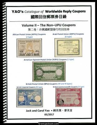 £43.65 • Buy Yao's Catalogue Of Worldwide Reply Coupons, Volume II - The Non-UPU Coupons