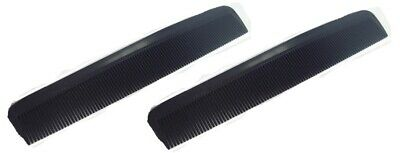 £2.59 • Buy County Mens Black Pocket Combs Hair Comb 6inch Pack Of 2