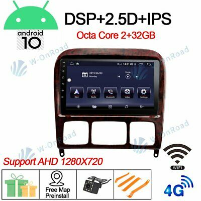 $318 • Buy 9''Android 10.0 Car Stereo Radio For Benz W220 W215 S280 S320 S350 S400 GPS Nav