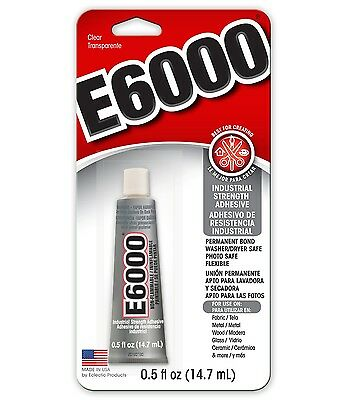 E6000 CRAFT Jewelry GLUE Adhesive  Protective Retail Package 1/2 Oz. Tube E-6000 • 6.47£