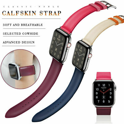 $ CDN15.10 • Buy Genuine Leather Apple Watch Band Strap For IWatch Series 4 3 2 1 38/42mm 40/44mm