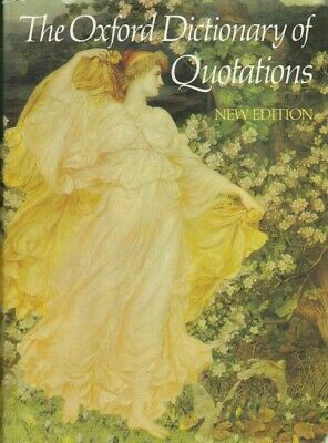 £8.99 • Buy The Oxford Dictionary Of Quotations - Third Edition (Hardback) 1980