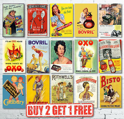 Vintage Retro Classic British Advertisement Advertising Prints Posters • 3.25£