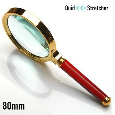 80mm Handheld 15X Magnifier Magnifying Glass Loupe Reading Large | UK Seller • 4.99£