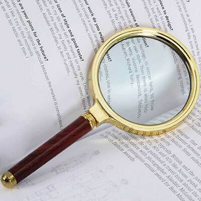 80mm Handheld 15X Magnifier Magnifying Glass Loupe Reading Large   UK Seller • 4.99£