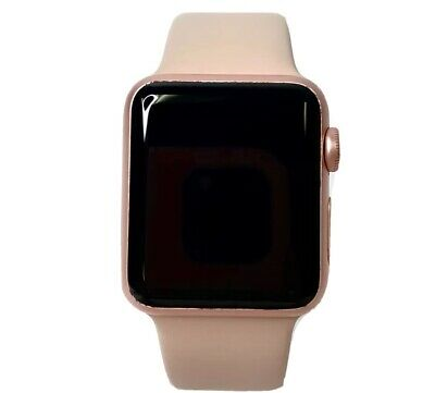 $ CDN175.96 • Buy Apple Watch Series 1 38mm Space Rose Gold Case GPS Pink Sport Band With Case