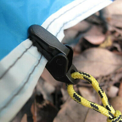 Camping Awning Canopy Clamp Tarp Clip Car Boat Cover Emergency Tent Snap 10pcs • 5.21£