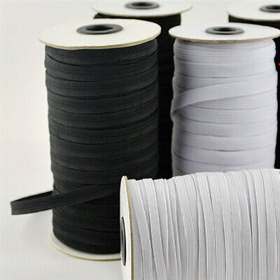 $ CDN19.88 • Buy 200 Yards Flat Elastic Band 3/5/6mm Stretch Rubber Strap Cord DIY Sewing Making
