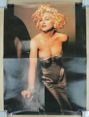 $22.22 • Buy Vintage MADONNA Poster 18x25 90s Sexy Low Cut Dress #1