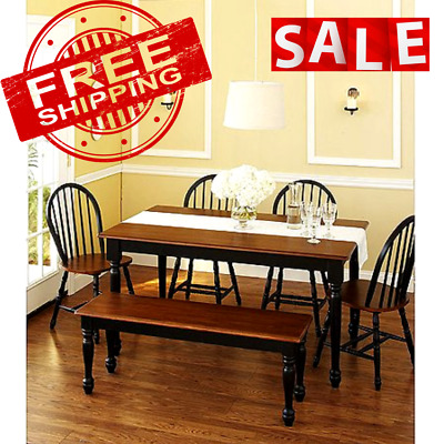 $132.68 • Buy DINING TABLE Wood Kitchen Office Desk Modern Farmhouse Room Home Furniture Decor