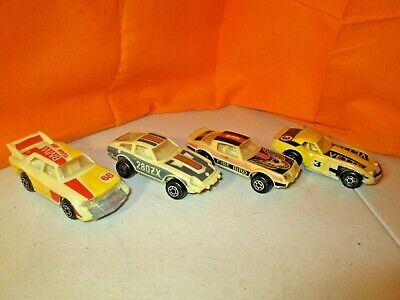 $6 • Buy Vintage & Rare 1982 Matchbox Lot Of 4 Glo Racers BMW Corvette Ex-NrMint Cond