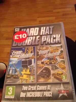 £9 • Buy Hard Hat Double Pack (Crane & Digger) Simulator Game PC New And Sealed