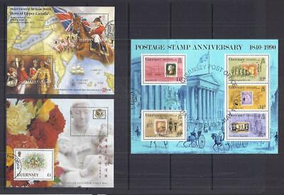 C557 Guernsey /  A Small Collection Mini Sheets Early & Modern Used • 1.35£