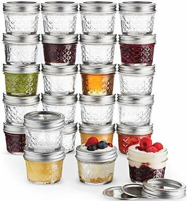 $58.57 • Buy Ball Mini Quilted Crystal Jelly Jars 4 Oz [24 Pack] Regular Mouth Mason Jars 24