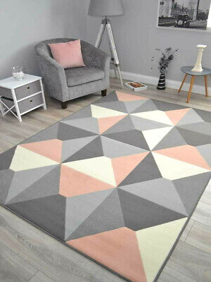New Blush Pink Rose Small Extra Large Soft Floor Carpet Area Rugs Rug Mats Cheap • 29.95£