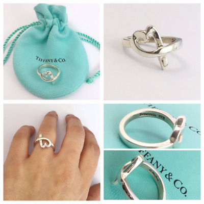 Authentic! Beautiful Tiffany & Co PALOMA PICASSO Loving Heart Ring Size H 1/2 • 110.99£