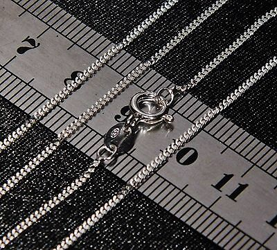 SOLID STERLING SILVER (925) 18 Inch CURB CHAIN 1.7g - Strong & Durable • 4.95£