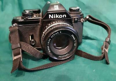$ CDN78.26 • Buy Vintage Nikon  EM  SLR Camera Black Body & 50mm Nikon Lens Series E