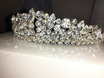 Stunning Sparkling Silver Crystal Bridal Tiara New In Box High Quality  • 45£