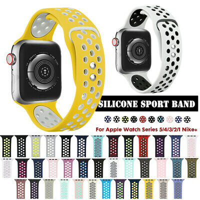 $ CDN7.33 • Buy For Apple Watch Silikon Armband Armband Series 1 2 3 4 5 Uhrenarmband 38-44 Mm