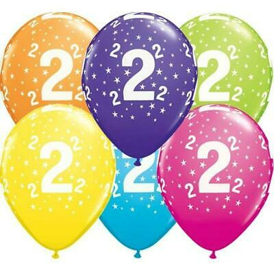 AU7.95 • Buy 2nd Birthday Party Supplies Latex Balloons Pearl Assorted Colours (Pk.10 / 28cm)