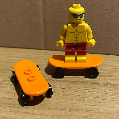 LEGO - SKATEBOARD - ORANGE - ( 2 OFF ) - Skate - Park - City - Friends  • 2.99£
