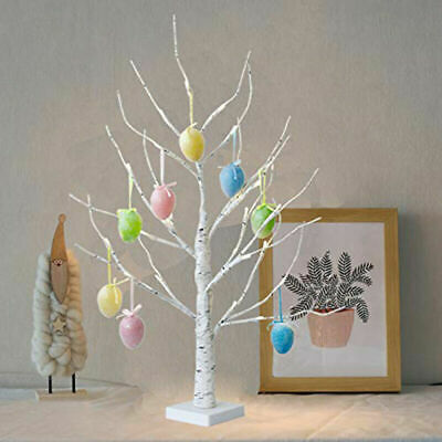 Easter Tree Decorations With Lights Led Light Up Twig Tree For Hang Eggs Gifts • 11.99£