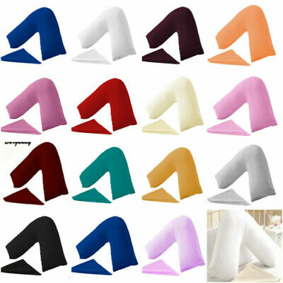 AU9.49 • Buy V SHAPED/Tri/Boomerang PILLOW CASE COVER MATERNITY NURSING ORTHOPAEDIC SUPPORT
