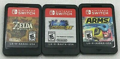 $71 • Buy Lot Of 3 Switch Games - Zelda: Breath Of The Wild, Pokken Tournament DX, & ARMS