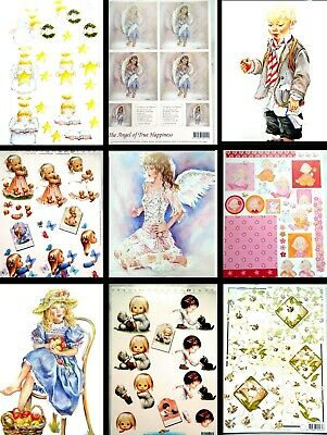 £2.99 • Buy Clearance Sale Decoupage Sheets Margaret Sherry Faerie Poppets Baby Christmas