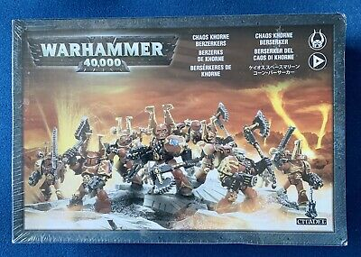 AU41.38 • Buy Warhammer 40k - Khorne Berserkers - Chaos Space Marines - New & Sealed - Oop