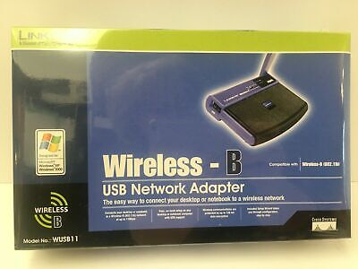 $1.97 • Buy Linksys Wireless-B Model No: WUSB11 USB Network Adapter New